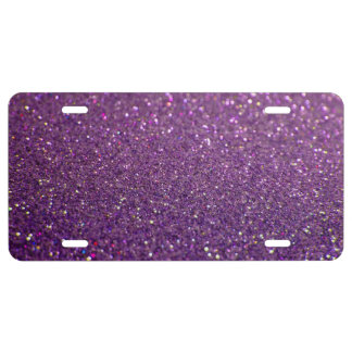 Sparkles & Glitter Aluminum License Plate