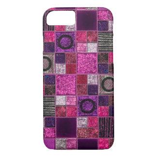 Sparkles & Glitter tiles pattern iPhone 7 case