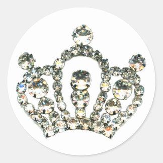Sparkles of a Tiara Classic Round Sticker