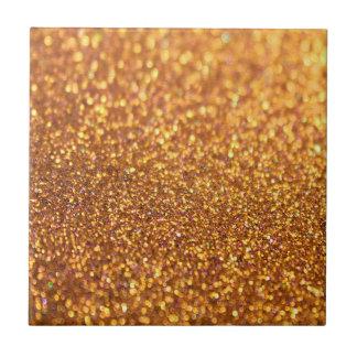 Sparkley Glitter Golden Ceramic Tile