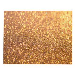 Sparkley Glitter Golden Notepads