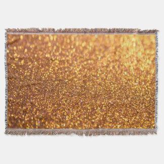 Sparkley Glitter Golden Throw Blanket