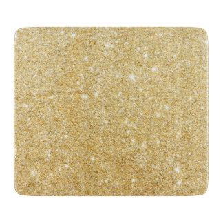 Sparkley Golden Stylish Glitter Cutting Board