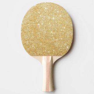 Sparkley Golden Stylish Ping Pong Paddle
