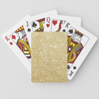 Sparkley Golden Stylish Playing Cards