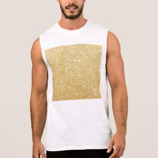 Sparkley Golden Stylish Sleeveless Shirt