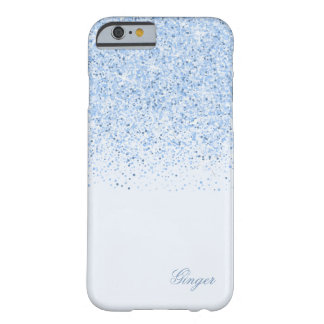 Sparkling Baby Blue with Glitter Barely There iPhone 6 Case