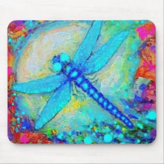 Sparkling Blue Dragonfly by Sharles Mouse Pad