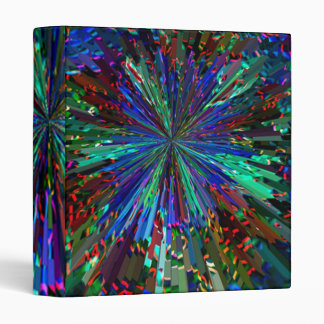 Sparkling BLUE STAR Vinyl Binder