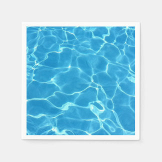 Sparkling Blue Swimming Pool Blue Water Aquatic Paper Napkin