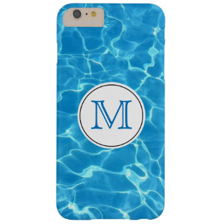 Sparkling Blue Swimming Pool Blue Water Monogram Barely There iPhone 6 Plus Case