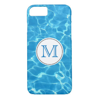 Sparkling Blue Swimming Pool Blue Water Monogram Case-Mate iPhone Case