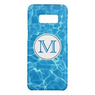 Sparkling Blue Swimming Pool Blue Water Monogram Case-Mate Samsung Galaxy S8 Case