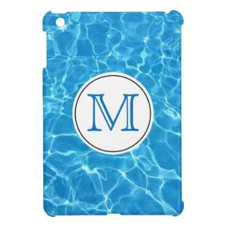 Sparkling Blue Swimming Pool Blue Water Monogram iPad Mini Cover