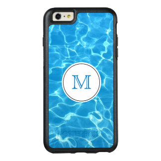 Sparkling Blue Swimming Pool Blue Water Monogram OtterBox iPhone 6/6s Plus Case
