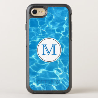 Sparkling Blue Swimming Pool Blue Water Monogram OtterBox Symmetry iPhone 8/7 Case