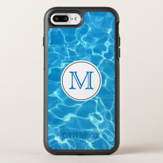 Sparkling Blue Swimming Pool Blue Water Monogram OtterBox Symmetry iPhone 8 Plus/7 Plus Case