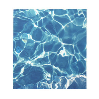 Sparkling Blue Water Notepad