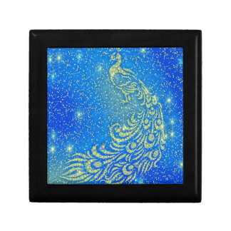 Sparkling Blue & Yellow Peacock Gift Box