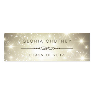 Sparkling Bokeh Personal Graduation Name Card