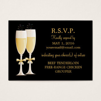 Sparkling Champagne Celebration Response Card