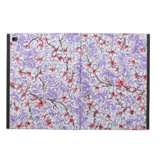 Sparkling Cherry Blossoms on Purple
