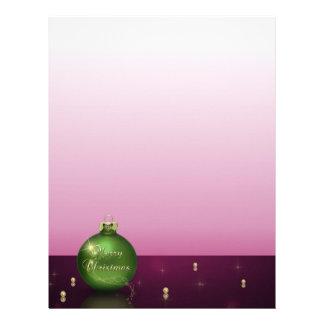 Sparkling Christmas Ornament Letterhead Stationery