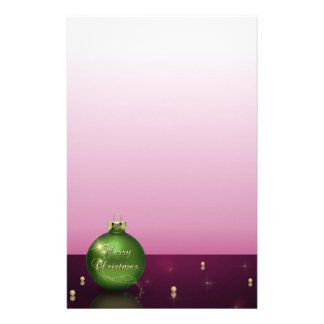 Sparkling Christmas Ornament Stationery Letterhead