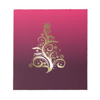 Sparkling Christmas tree Notepad