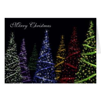 Sparkling Christmas Trees Card