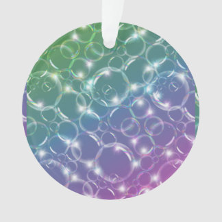 Sparkling Clear Translucent Bubbles Colorful Ornament