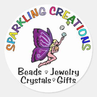 Sparkling Creations Round Sticker