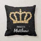 Sparkling Diamond Crown - choose your background Throw Pillow