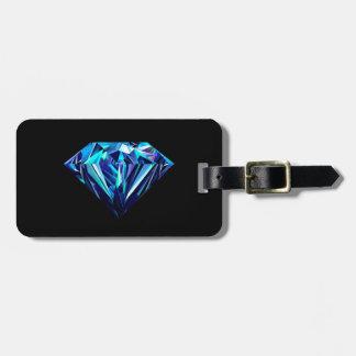 Sparkling diamond luggage tag