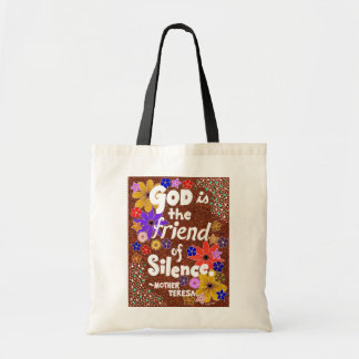 Sparkling Floral God Typography Quote Tote Bag