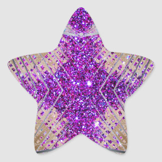 Sparkling Futuristic Star Stickers Collectibles