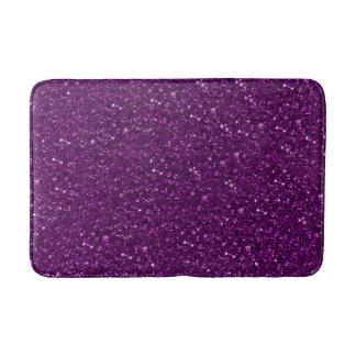sparkling glitter plum bath mat