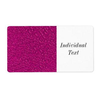 Sparkling glitter shipping label