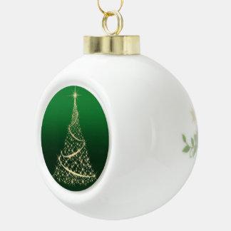 Sparkling Gold Christmas Tree Ornament