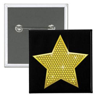 Sparkling Gold Star Button