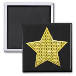 Sparkling Gold Star Magnet