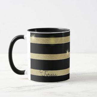 Sparkling Gold Stripe ID285 Mug