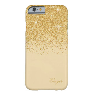 Sparkling Golden Glitz and Glitter Barely There iPhone 6 Case