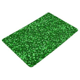 Sparkling Green Glitter Floor Mat