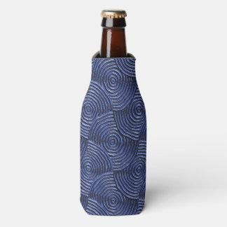 sparkling groovy metal,blue (I) Bottle Cooler