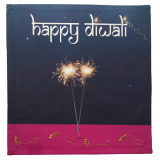 Sparkling Happy Diwali - Cloth Napkin