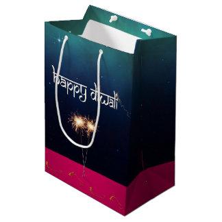 Sparkling Happy Diwali - Medium Gift Bag