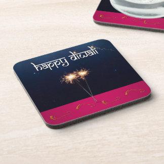 Sparkling Happy Diwali - Plastic Coaster