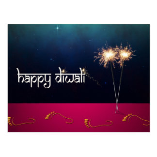 Sparkling Happy Diwali - Postcard
