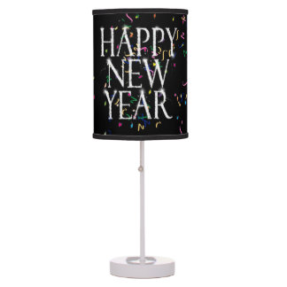 Sparkling Happy New Year Table Lamp
